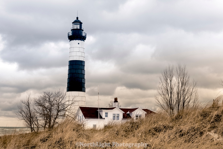 Big Sable Point lighhouse, Ludington State Park, Michigan, USA