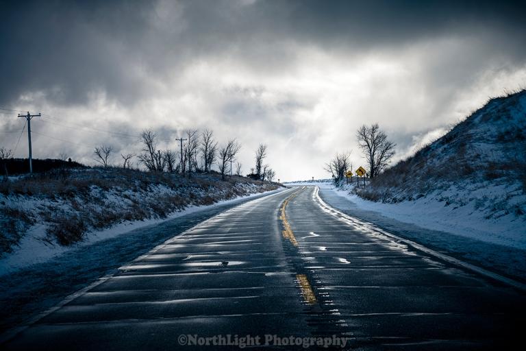Highway M-116 passing through Ludington State Park near Ludington, Michigan